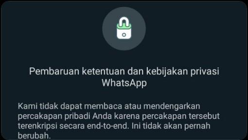 WhatsApp Perbaharui Kebijakan Privasi Dan Ketentuan