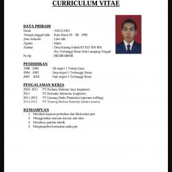 Cara Membuat CV Lamaran Kerja Yang Baik Dan Benar